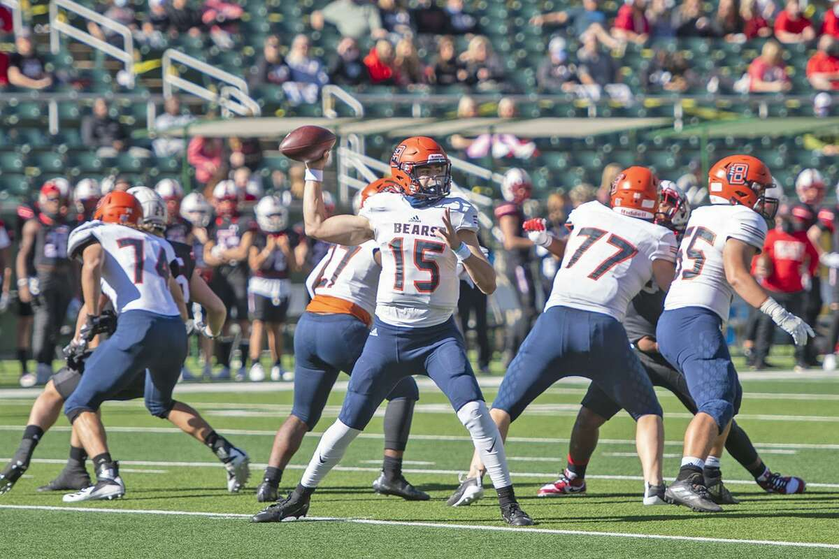 Bridgeland High School senior quarterback Conner Weigman (No. 15) and the Bears will open their 2021 football season as part of the GEICO ESPN High School Football Kickoff. They'll face Klein Cain at 8 p.m. on Saturday, Aug. 28 at Klein Memorial Stadium, with the game being broadcast live on ESPNU. Bridgeland beat Klein Cain 49-42 to open the 2020 season.