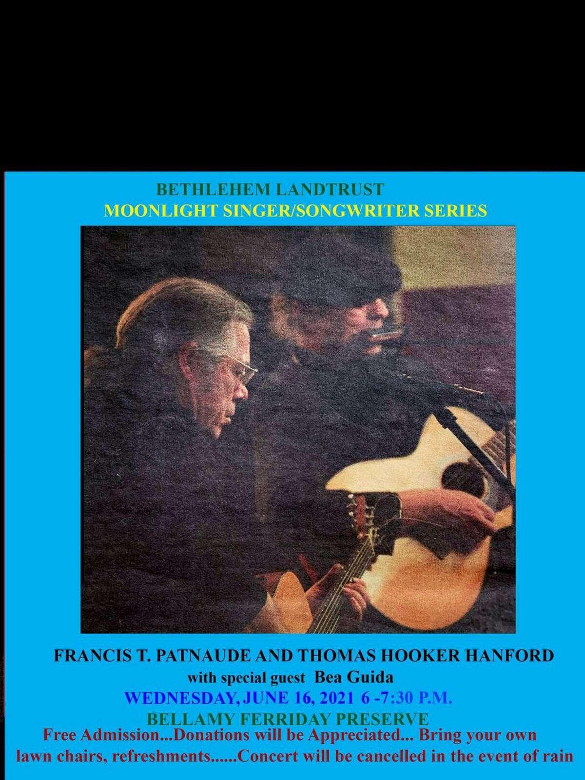 singer/songwriters Fran Patnaude and Tom Hanford perform Aug. 7 in Bethelehem.