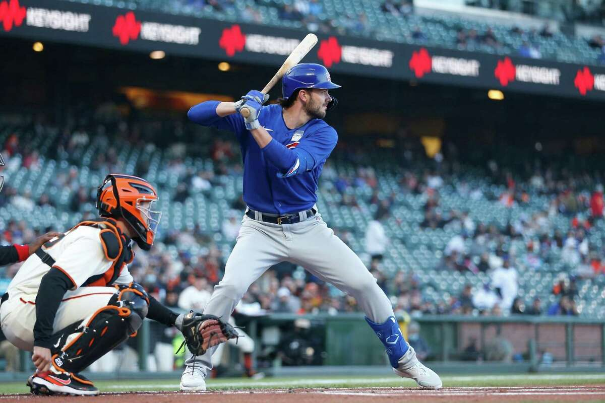 Newly-acquire Kris Bryant could be in the Giants' lineup when they face the Astros at Oracle Park at 1 p.m. Sunday. (NBCSBA)