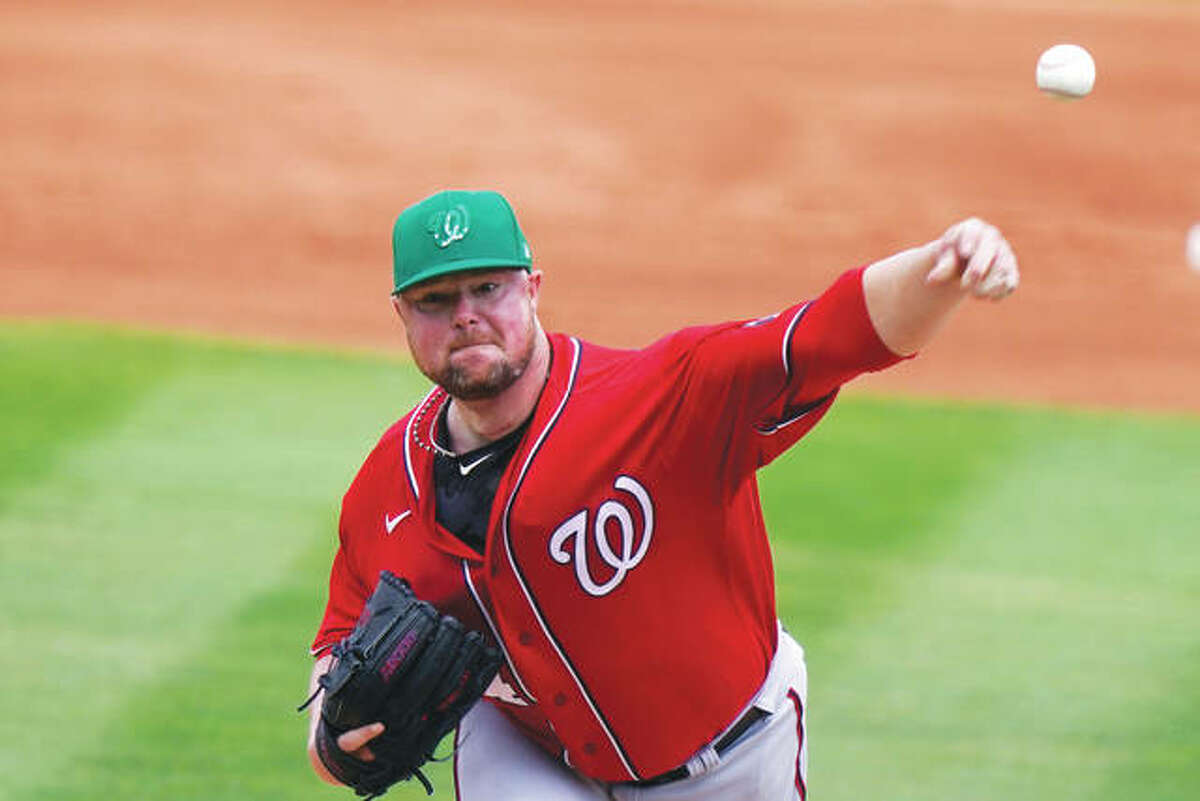 The Cardinals acquired pitcher Jon Lester from the Washington Nationals Friday in exchange for outfielder Lane Thomas. Earlier in the day, the Cards obtained veteran left-handed pitcher J.A. Happ and cash considerations from the Minnesota Twins in exchange for right-handed pitcher John Gant and minor league left-handed pitcher Evan Sisk.