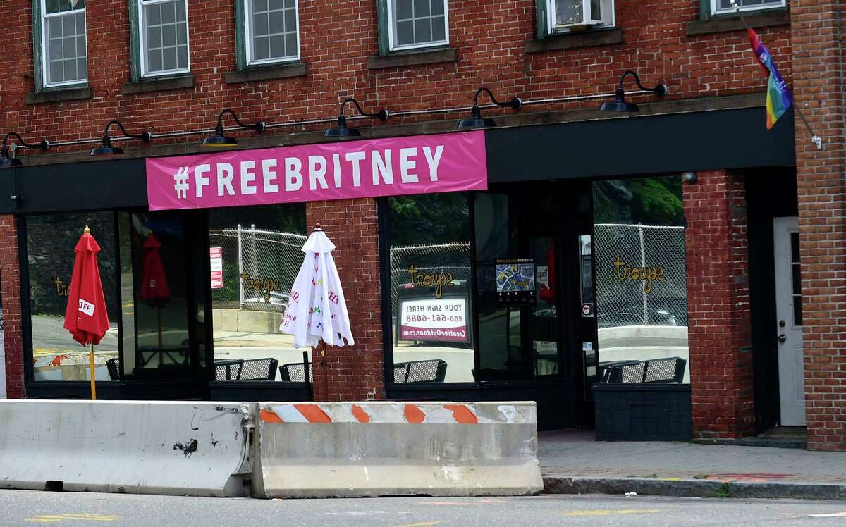 Troupe 429 bar Friday in Norwalk. Reports allege that the gay bar was harassed by city officials who took down the club's gay pride flags and lights.