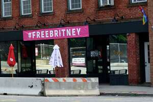 Troupe 429 bar Friday, July 30, 2021, in Norwalk, Conn. Reports allege that the gay bar was harassed by city officials who took down the club's gay pride flags and lights.