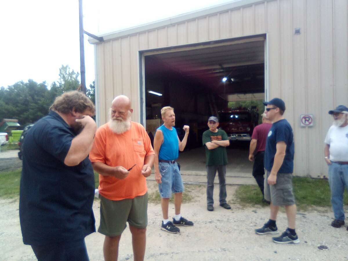 Eastlake firefighters gather before a July 26 training session. Eastlake Fire and Rescue celebrates its 140th anniversary this year.