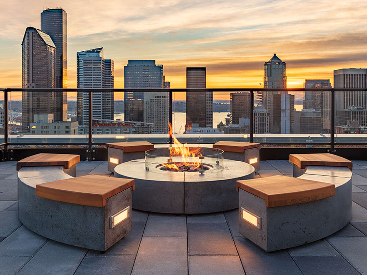 Sentral's rooftop fire pit in First Hill.