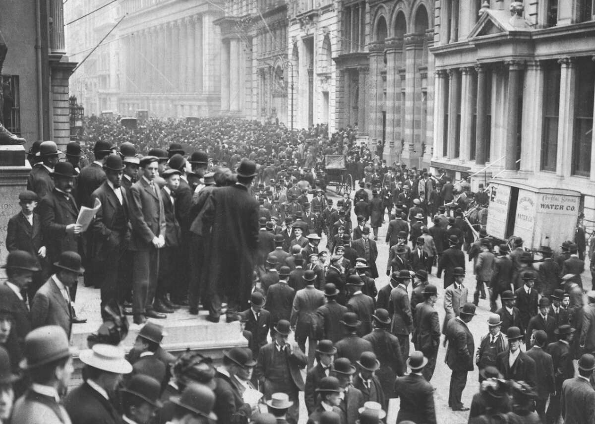 1907: Panic of 1907 The first 20th century financial crisis to extend across the world, the Panic of 1907, prompted the creation of the U.S. Federal Reserve System. The crisis began in New York City trust companies, which competed with banks, but were outside the control of the New York Clearing House. Two speculators, F. Augustus Heinze and Charles W. Morse, failed to corner the stock of United Copper, a copper mining company, and sparked the panic. A run on banks associated with the men was calmed by the clearing house, but not one on the trust companies. Eventually the legendary banker J.P. Morgan and others rescued the banks and the stock market.