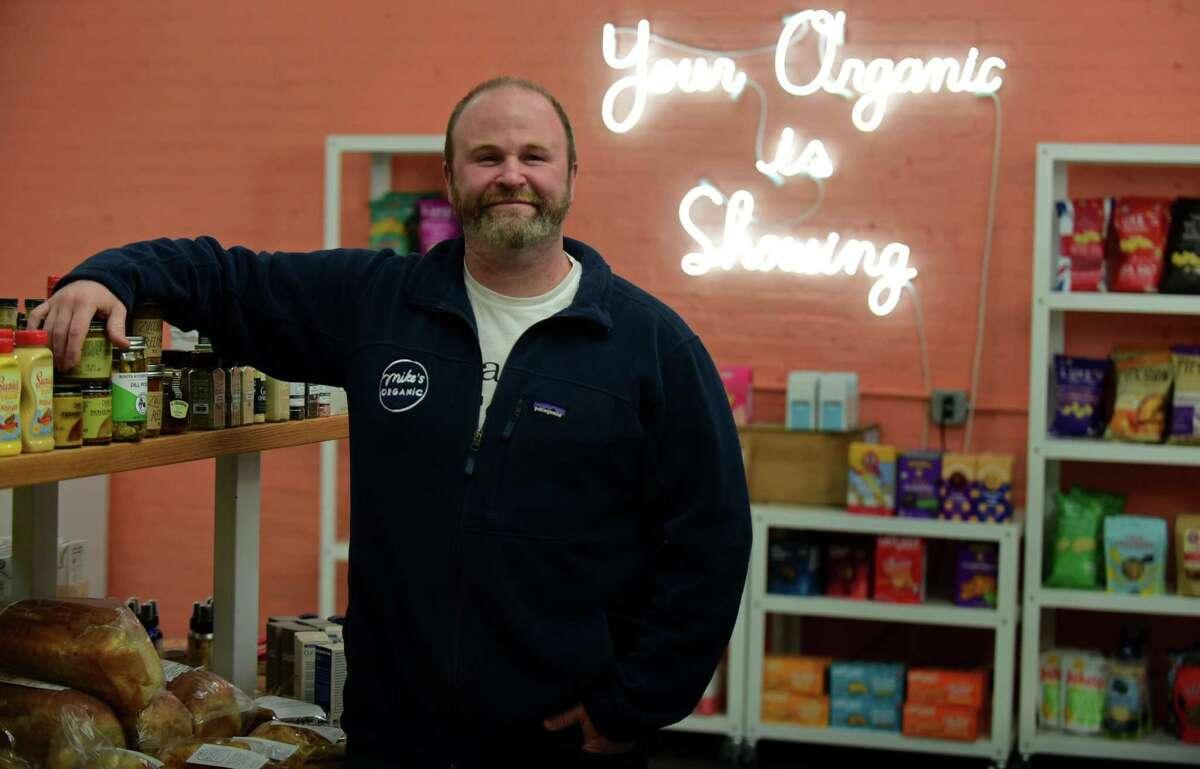 Mike Geller at his Mike's Organic Market Thursday, November 19, 2020 , in Stamford, Conn.