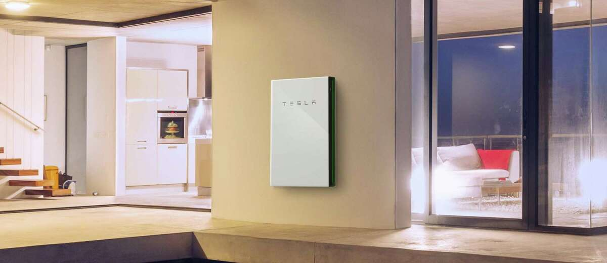 Tesla's Powerwall is an example of a big house battery that stores energy from solar panels during the day for use at night when the sun is down.