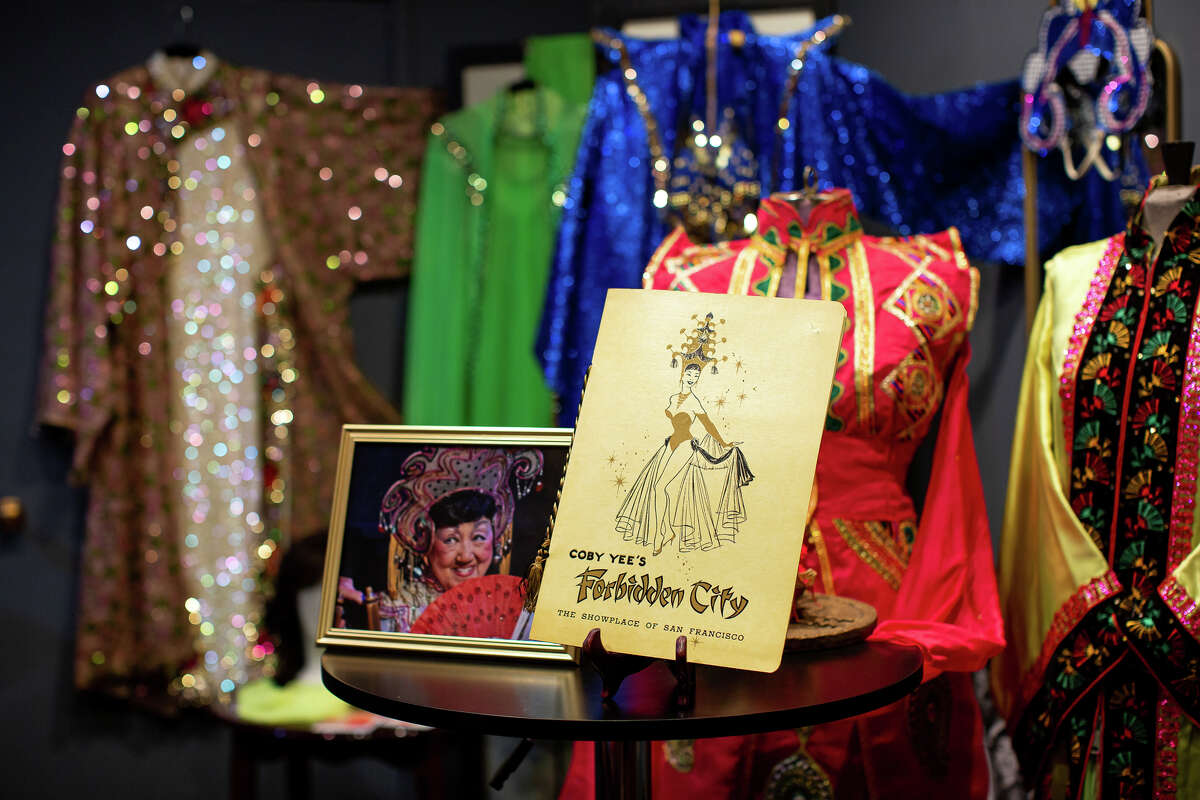 Some of the memorabilia on display at the Showgirl Magic Museum in San Francisco, Calif. on July 29, 2021. The museum is a tribute to Chinatown's rich mid-20th century nightclub culture.