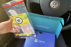 The Switch Health testing kit provided to all travelers into Canada at the border.(Rebekah F. Ward/Times Union)
