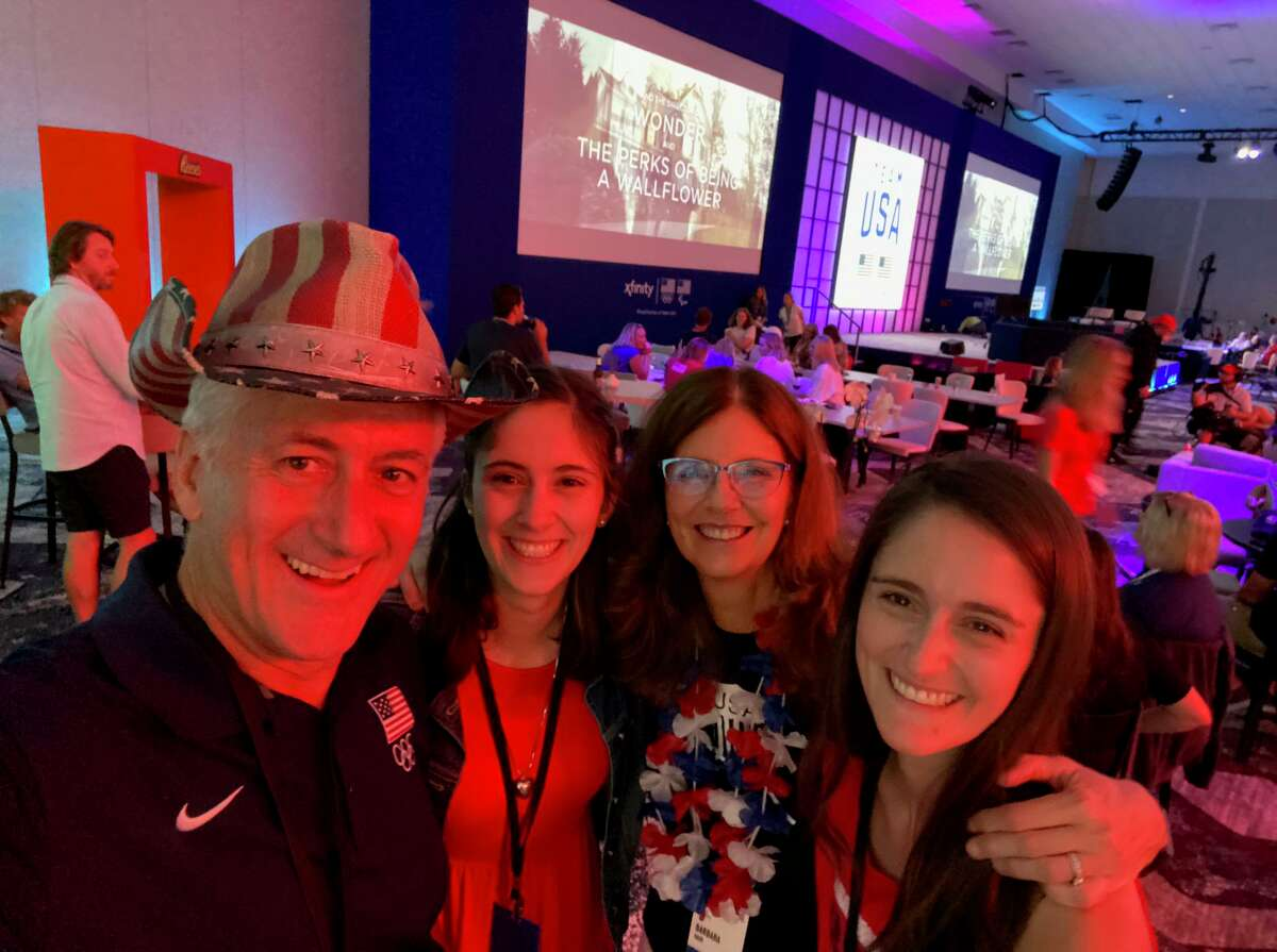The Hack family attended a watch party in Orlando, Florida to watch their son, Austin, compete for Team USA in the men's eight. Team USA finished fourth in the men's eight final in Tokyo.