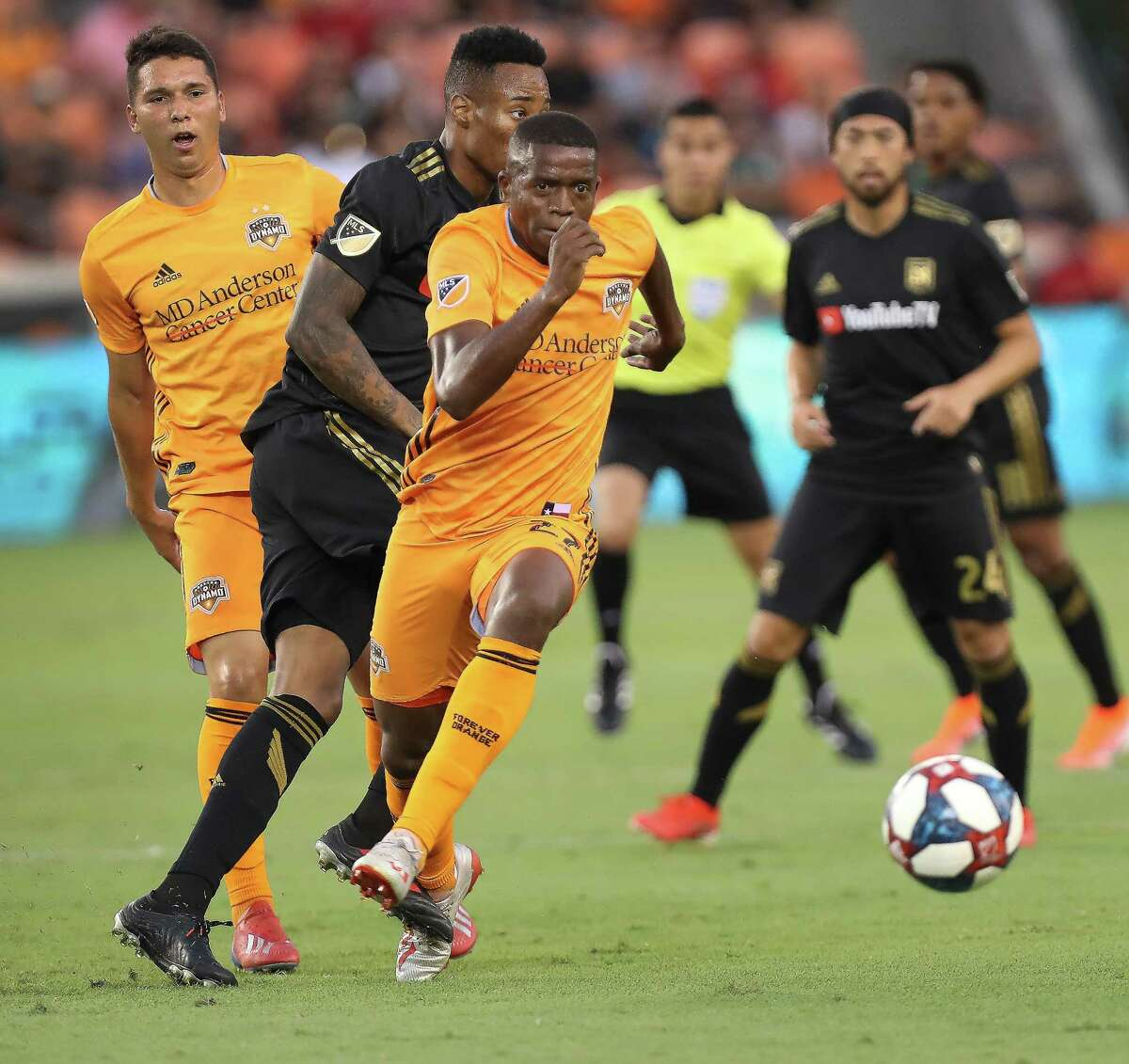 Midfielder Boniek Garcia is back with the Dynamo after missing time for the Gold Cup.