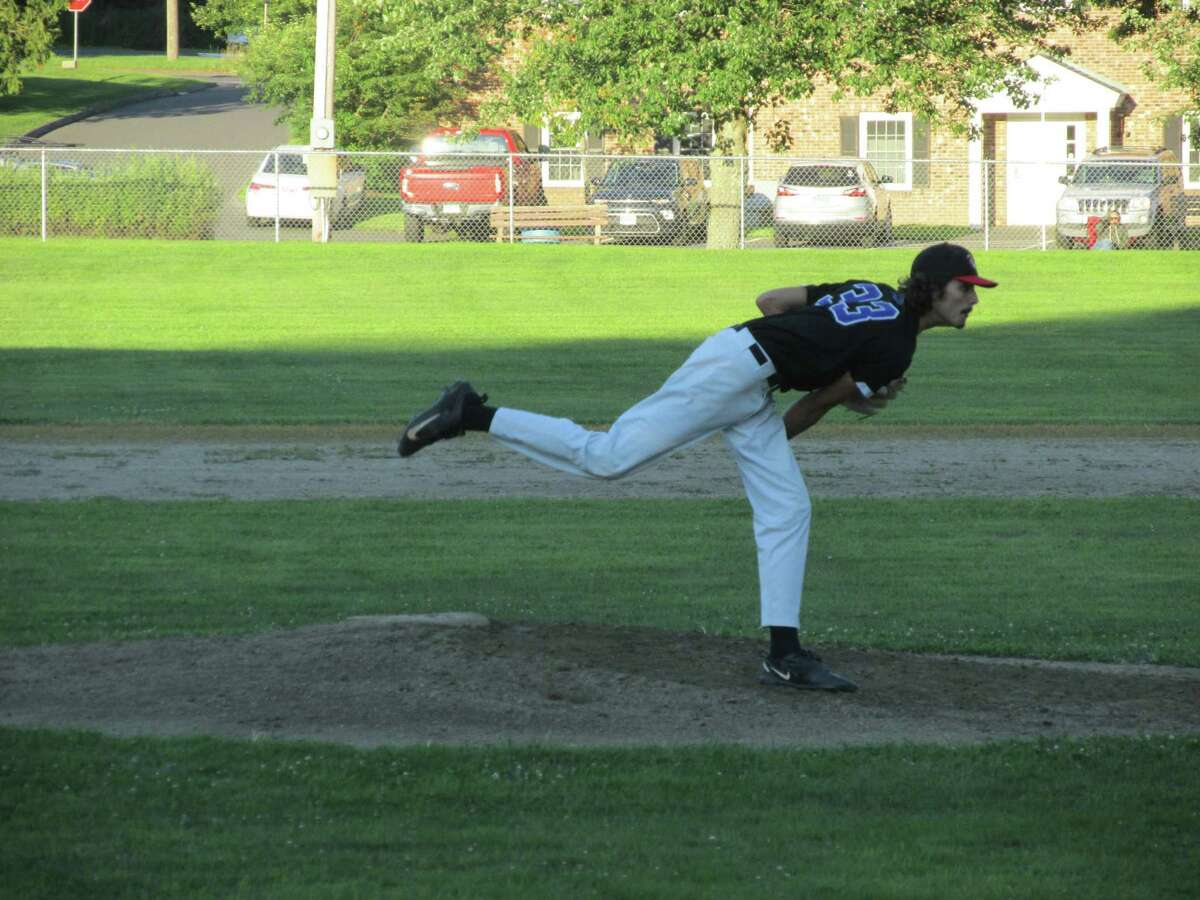Bethlehem's Keegan Daigle held on for the win over Winsted at Gallup Field Friday evening.
