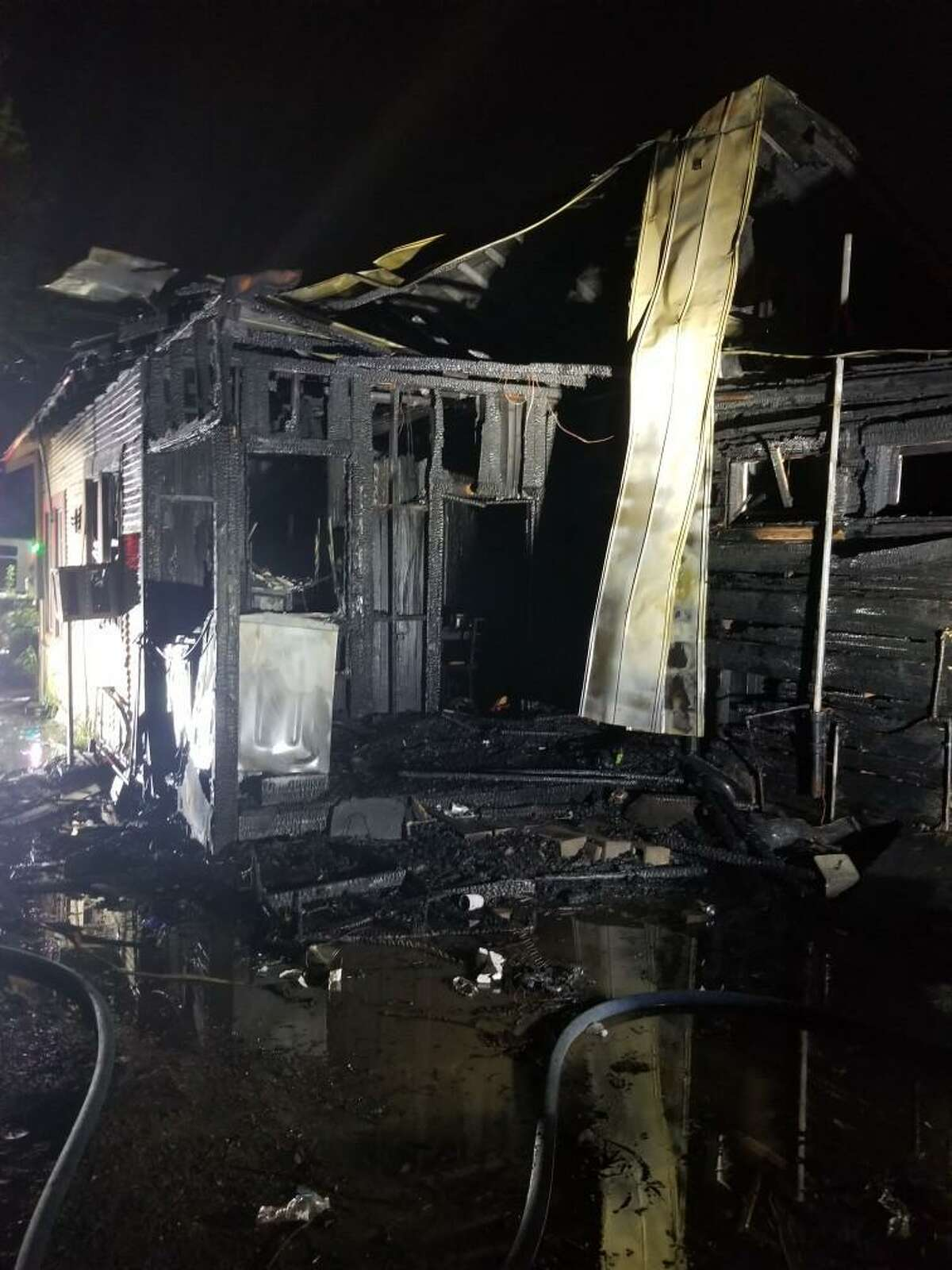 This single-story home on Farragut Street was damaged in a fire on Friday morning.