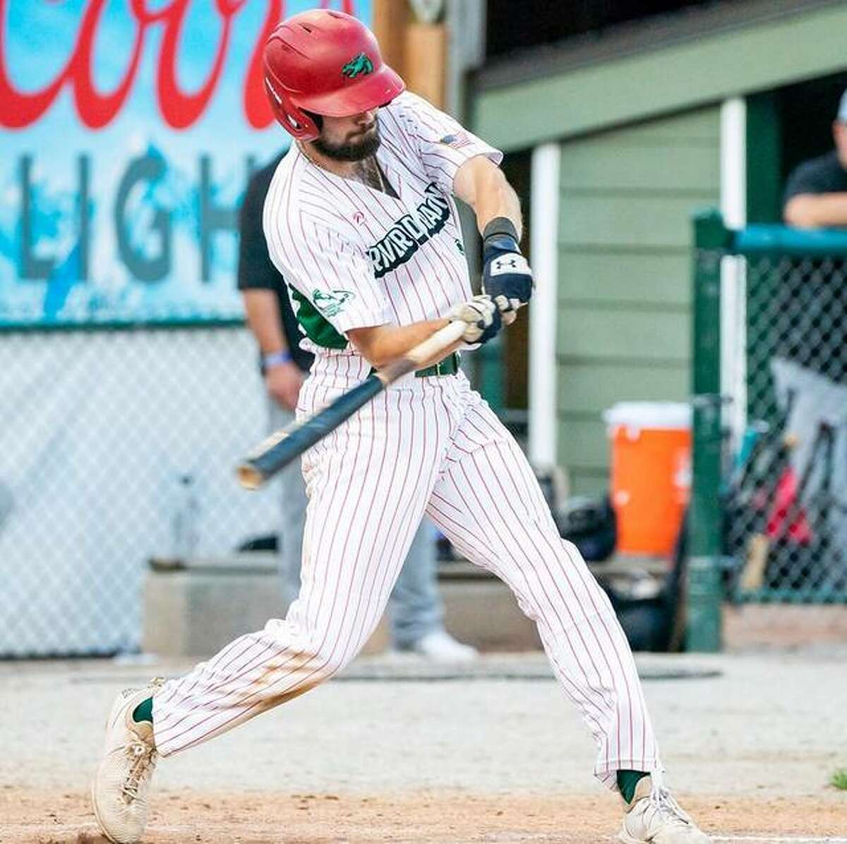 The Alton River Dragons' Josh Johnson had two hits and an RBI in hi steam's 8-4 loss to Cape Girardeau Friday night at Lloyd Hopkins Field.