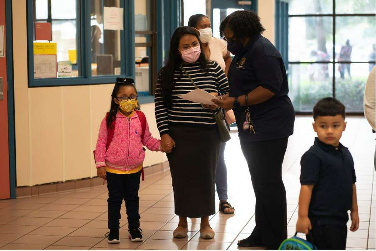 Clark Primary students head back early for their first day of school, July 19.