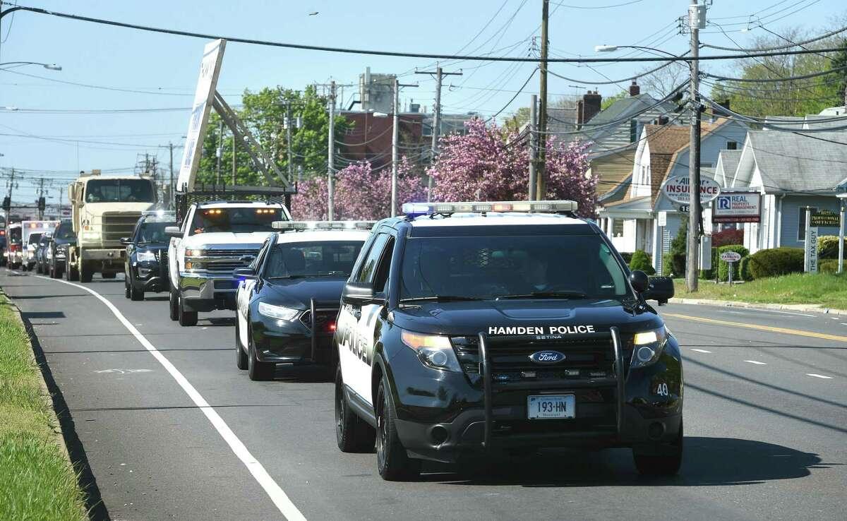 A Hamden Police car on May 7, 2020.