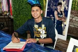 Jacob Rodriguez signed with Rocky Valley College on Thursday, July 29, 2021 during a celebration at El Jardin De Frida.