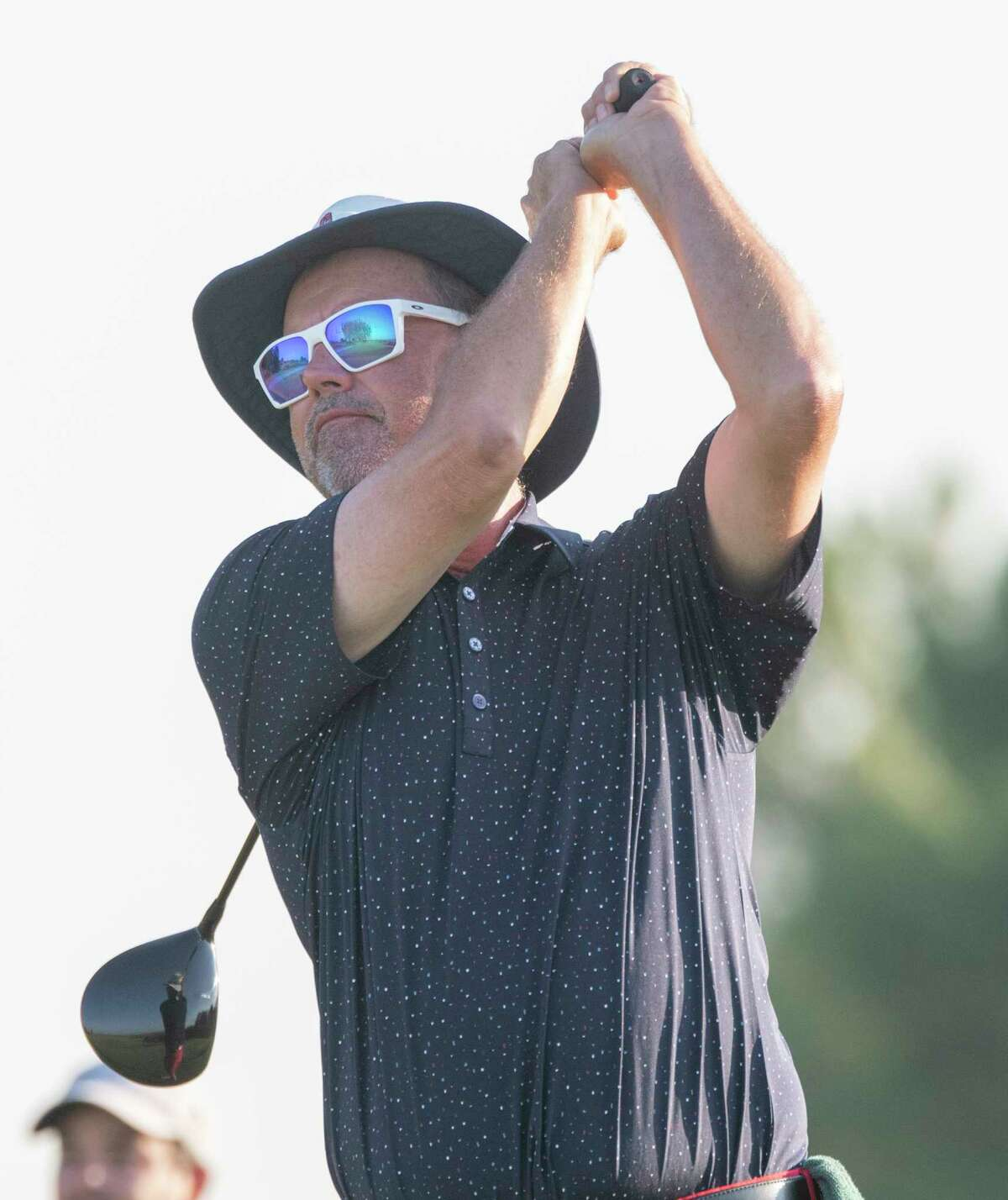 Rick Houston follows his tee shot 07/31/2021 during the second round of the Star Electric Midland Men's City Golf Championship at Hogan Park Golf Course. Tim Fischer/Reporter-Telegram