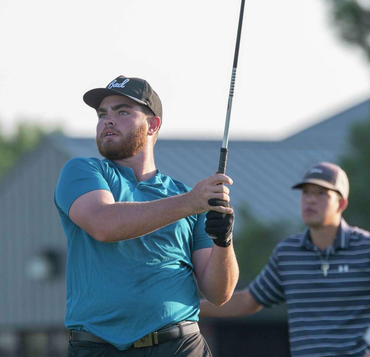 Davis Seybert follows his tee shot 07/31/2021 during the second round of the Star Electric Midland Men's City Golf Championship at Hogan Park Golf Course. Tim Fischer/Reporter-Telegram