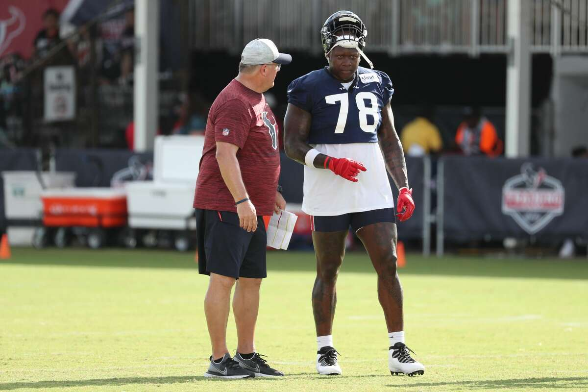 Houston Texans offensive tackle Laremy Tunsil (78) during an NFL training camp football practice Saturday, July 31, 2021, in Houston.