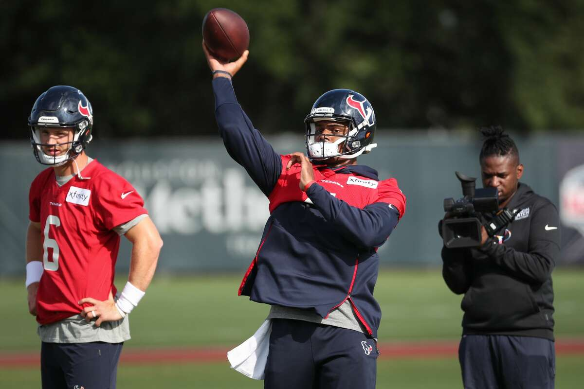 Deshaun Watson, who reportedly wants out of Houston, has been the fourth-team QB so far during Texans camp.