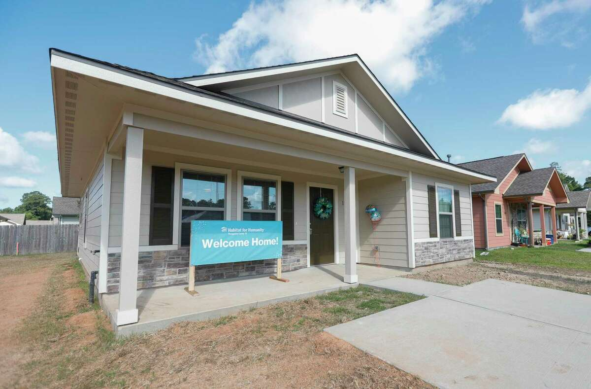 Brenda Price's new ouse from Habitat For Humanity is on display on Saturday in Conroe.