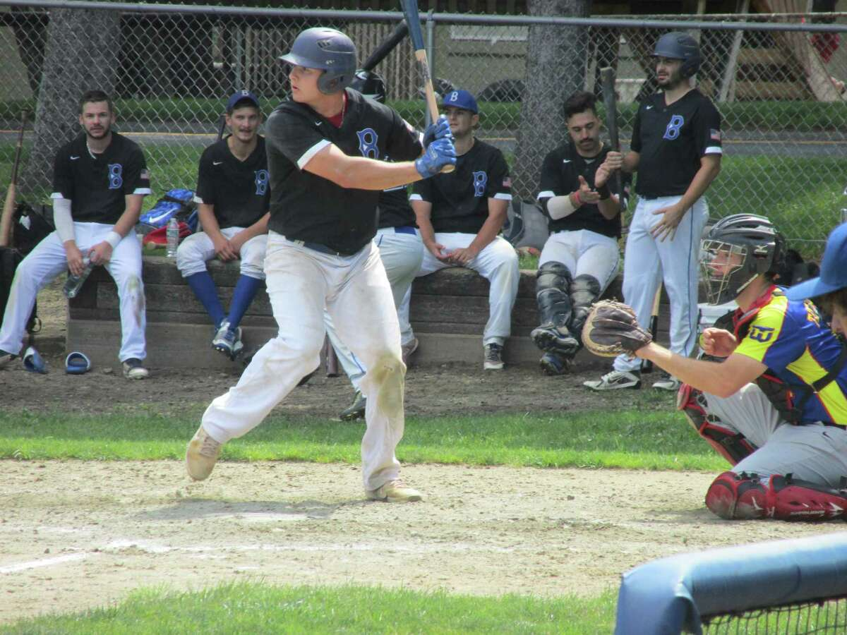 Bethlehem's Greg Campbell led a parade of sluggers to a win over the Winsted Whalers Saturday at Walker Field clinching a Round 2 best-of-three series in the Tri-State Baseball League's championship playoffs.
