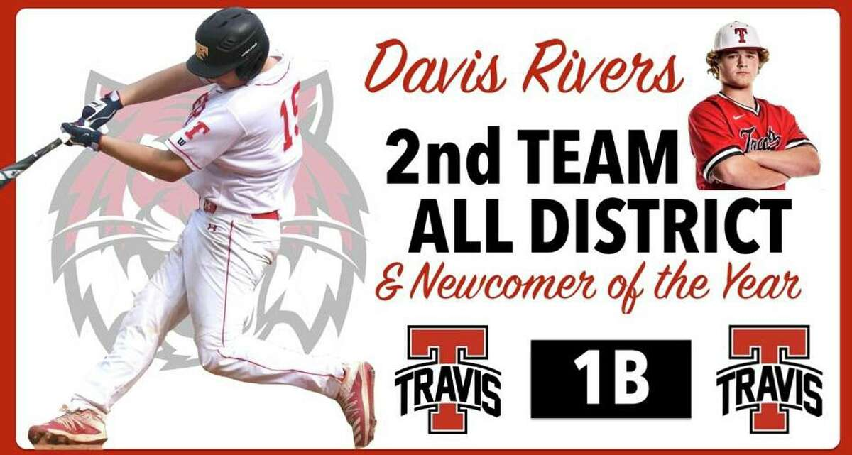 Travis junior Davis Rivers was voted 20-6A Newcomer of the Year after batting .432 with three home runs and 24 RBIs for the district champion Tigers.