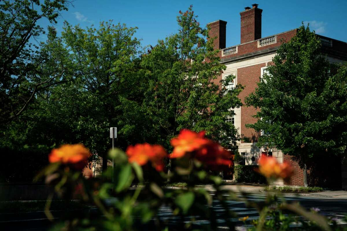 Pictured on July 23, 2021, is the Afghan Embassy, a 1928 red-brick mansion in the District of Columbia's Kalorama neighborhood.