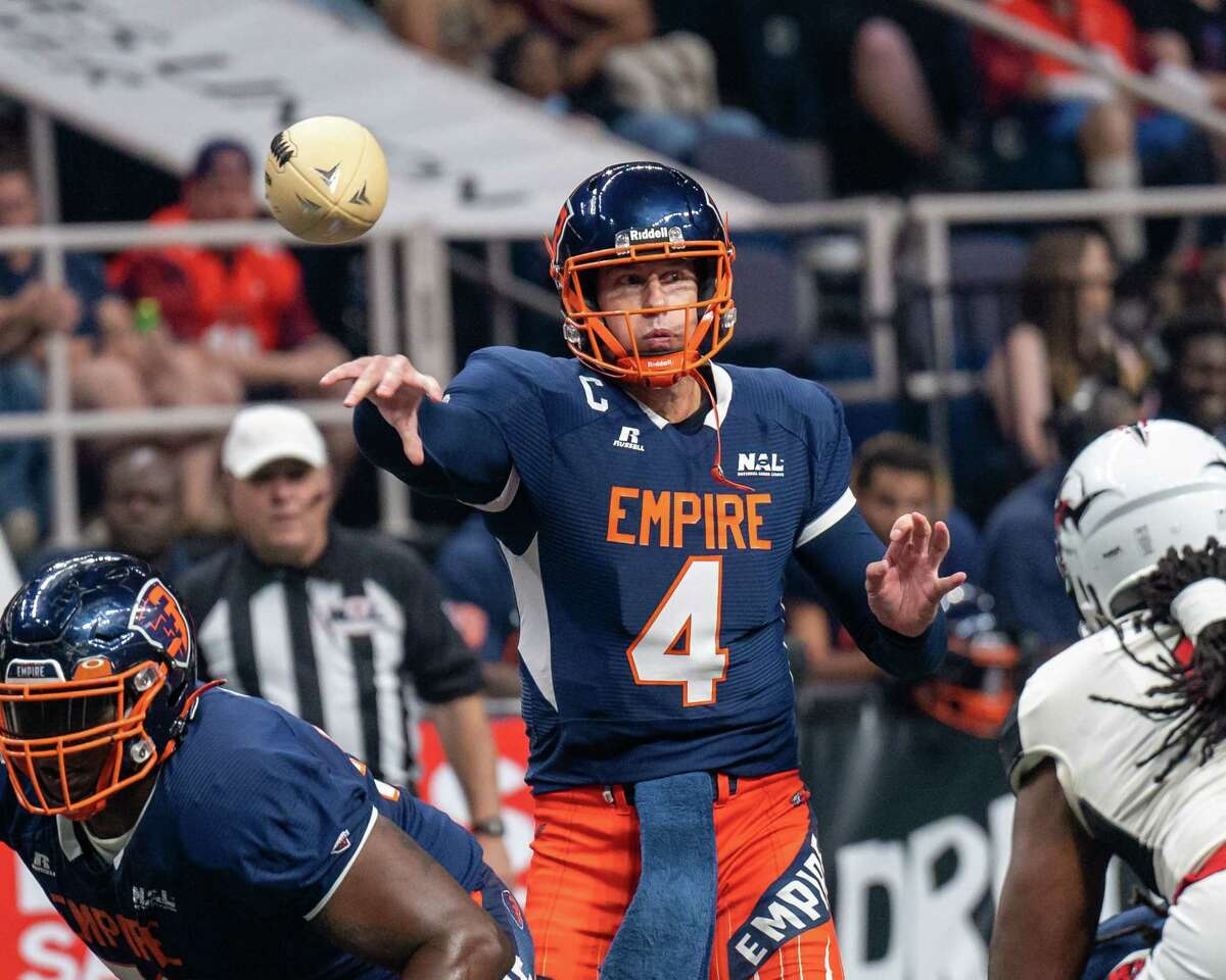 Quarterback Tommy Grady said the Albany Empire still haven't paid him the championship bonus he's owed after leading the franchise to a National Arena League title last season. (Jim Franco/Special to the Times Union)