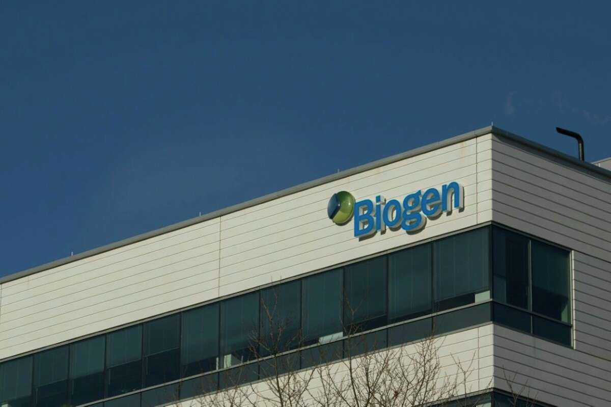 Biotechnology company Biogen Inc. in Cambridge, Massachusetts, is the maker of the recently approved Alzheimer's drug Aduhelm. (Dominick/AFP/Getty Images/TNS)