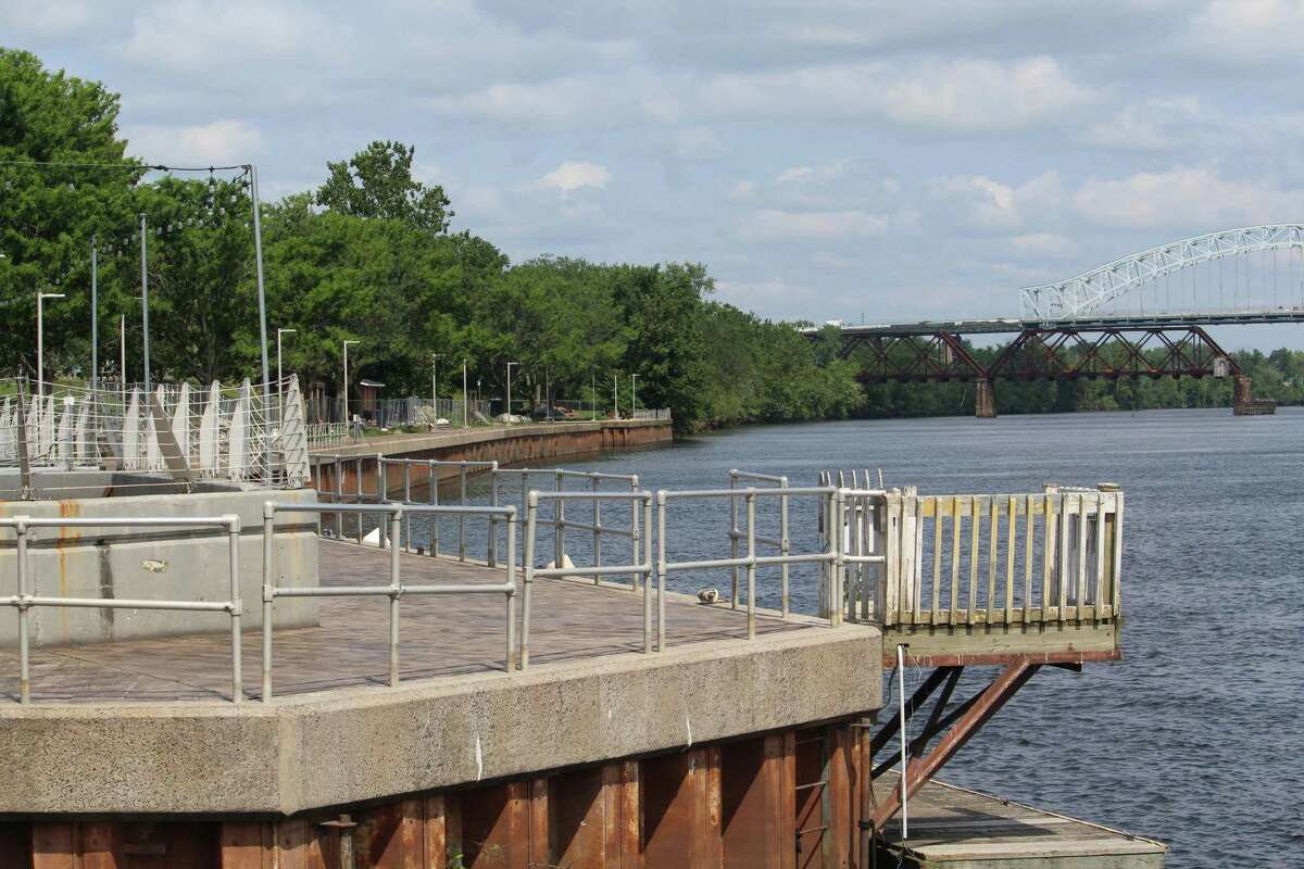 Middletown's Harbor Park boardwalk and railings upgrade project, shown Wednesday afternoon, is nearing completion.