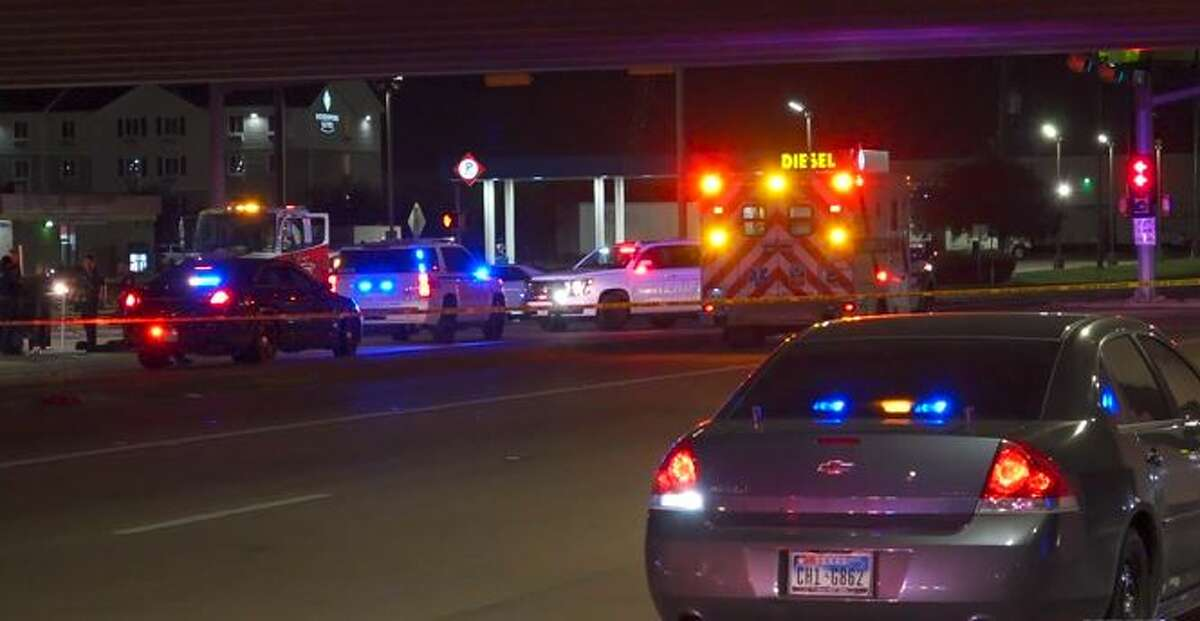 A woman was struck at the intersection of Airtex Drive and I-45 North freeway.