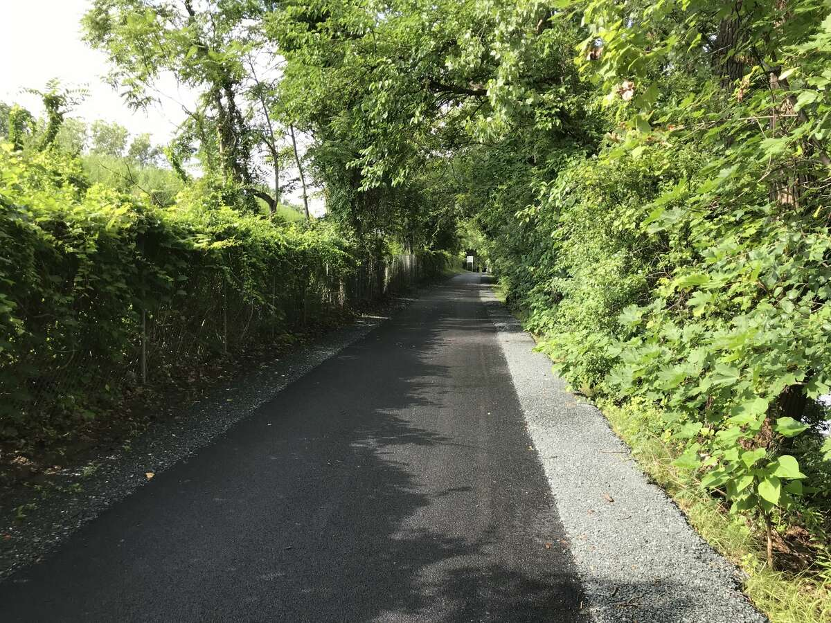 DOT removed and replaced old patches of the Mohawk-Hudson bike trail in need of updating due to age and the growth of tree roots, and the entire 2.8 mile stretch was then overlaid with new pavement.