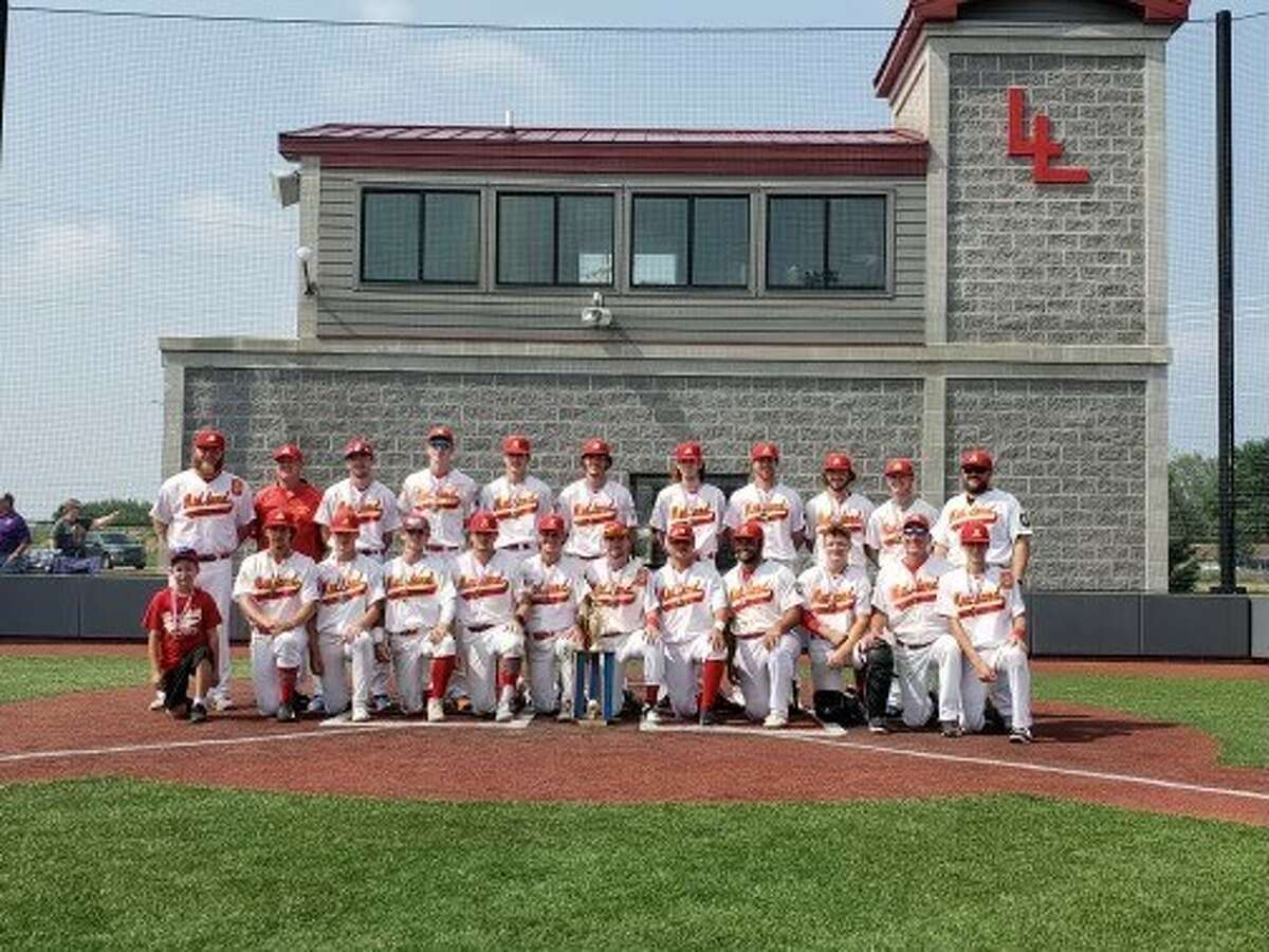 Members of Berryhill Post 165's baseball team which won the American Legion state championship on Sunday in Stevensville are (back row, from left) assistant coach Jeff Allen, assistant coach Deron Gross, A.J. Harvey, Andrew Young, Lane Kloha, Trent Johnson, Max Coughlin, Derek Beougher, D.J. Thompson, Danny Witbeck, assistant coach Ben Wright; and (front row, from left) bat boy Kipten Throop, Blake Waibel, Nathan Masar, Nolan Sanders, Braylen Laverty, Griffin Clark, Al Money, Logan McCoy, Avain Rivera, Al Warner, manager Dan Cronkright, and Brody Krzysiak.