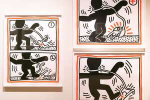 Keith Haring, Free South Africa, 1985. Aquatint on paper. Photo Wm Jaeger