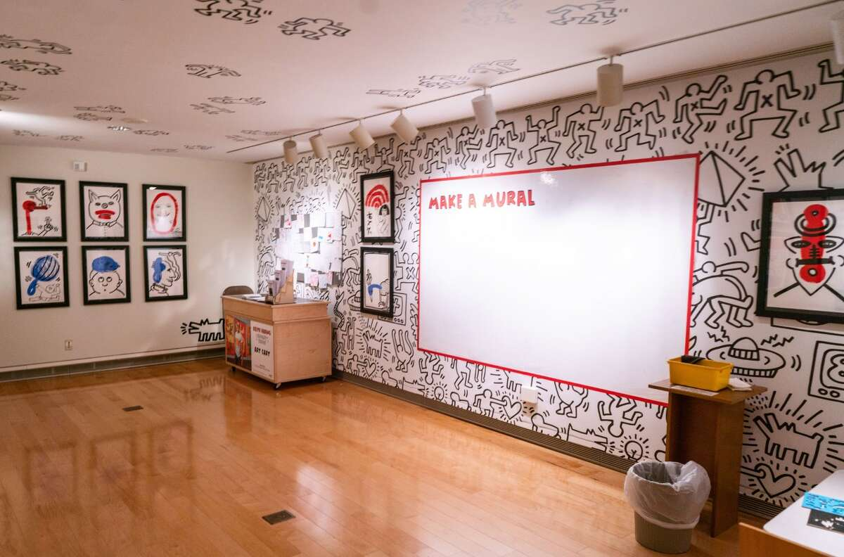 Keith Haring, Make a Mural room. Photo Wm Jaeger