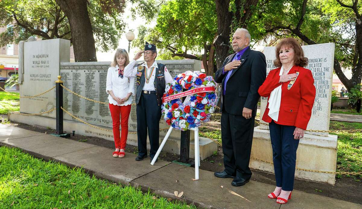 Laredoans placed a wreath near a monument memorializing locals lost in the Korean conflict during a ceremony marking the 67th anniversary of TRUCE of the Korean War Ceremony. The Event also honored the end of the Afghanistan War.