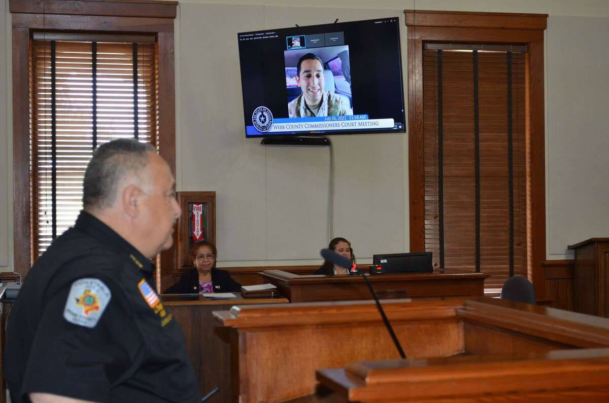 Recognized by the Webb County Commissioners Court, 2nd Lt. Joshua Tinajero, 22, attended the Monday meeting via video call in Columbus, Ga. after graduating from the U.S. Army Ranger School.