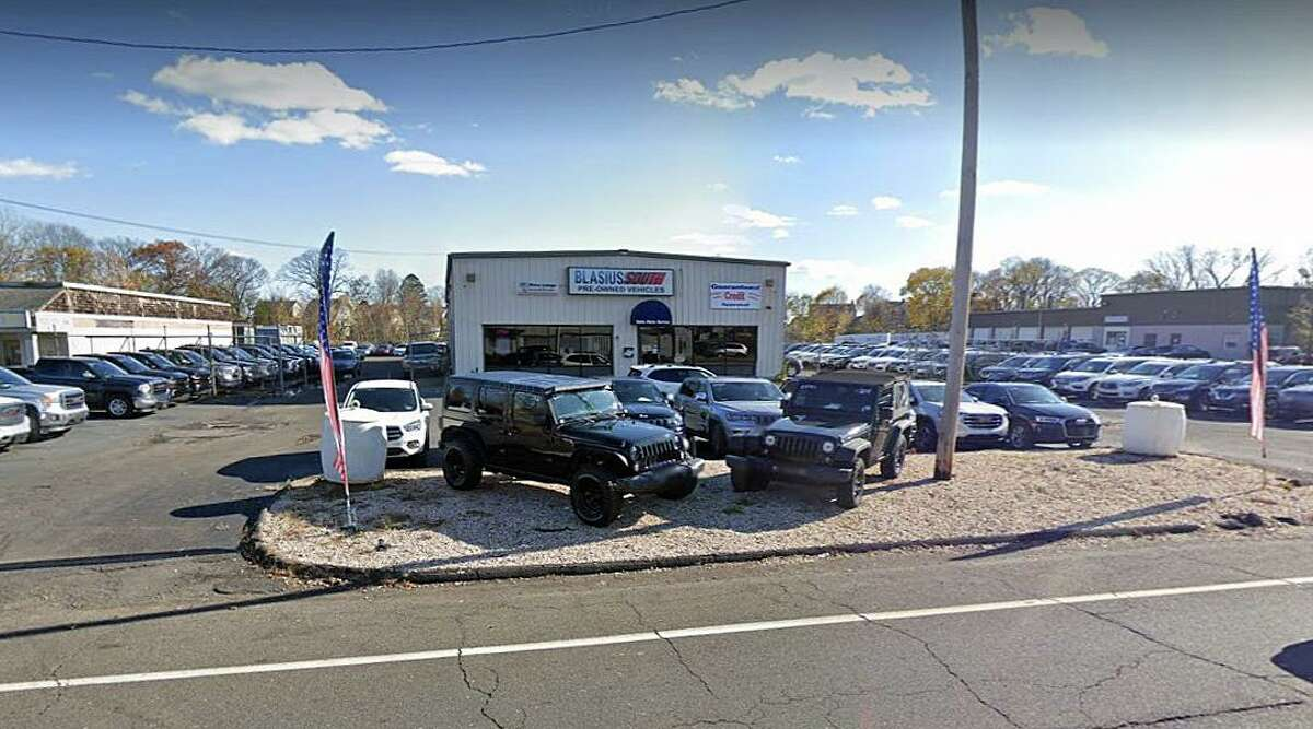 Police continue to investigate after three vehicles were taken from a used car dealership in Stratford, Conn., early Sunday, Aug. 1, 2021.