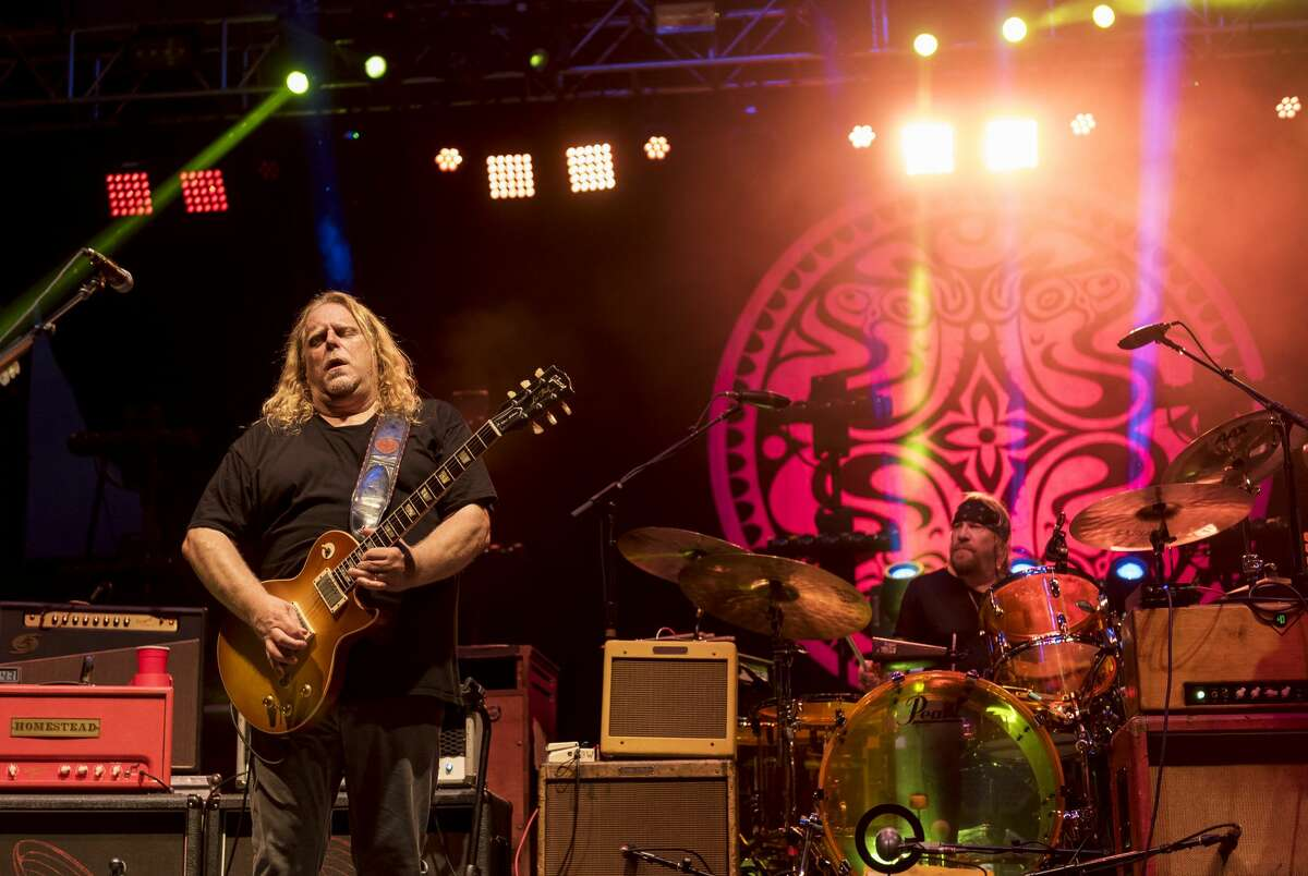 American Blues-Rock group Gov't Mule performs onstage during the 2017 season opening night SummerStage Benefit concert at Central Park SummerStage, New York, New York, May 17, 2017.