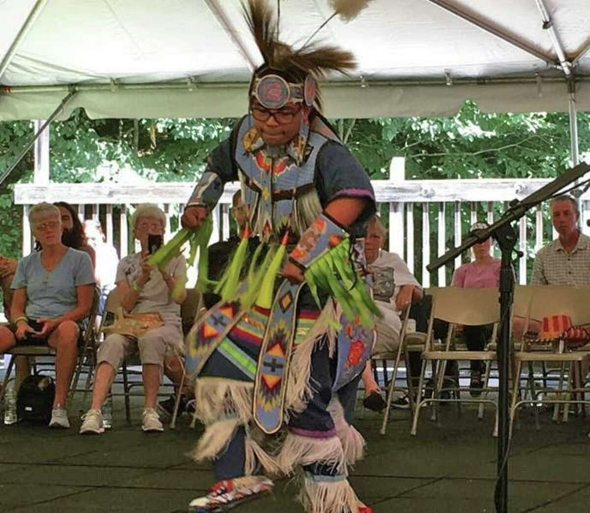 A green corn festival native dancer.