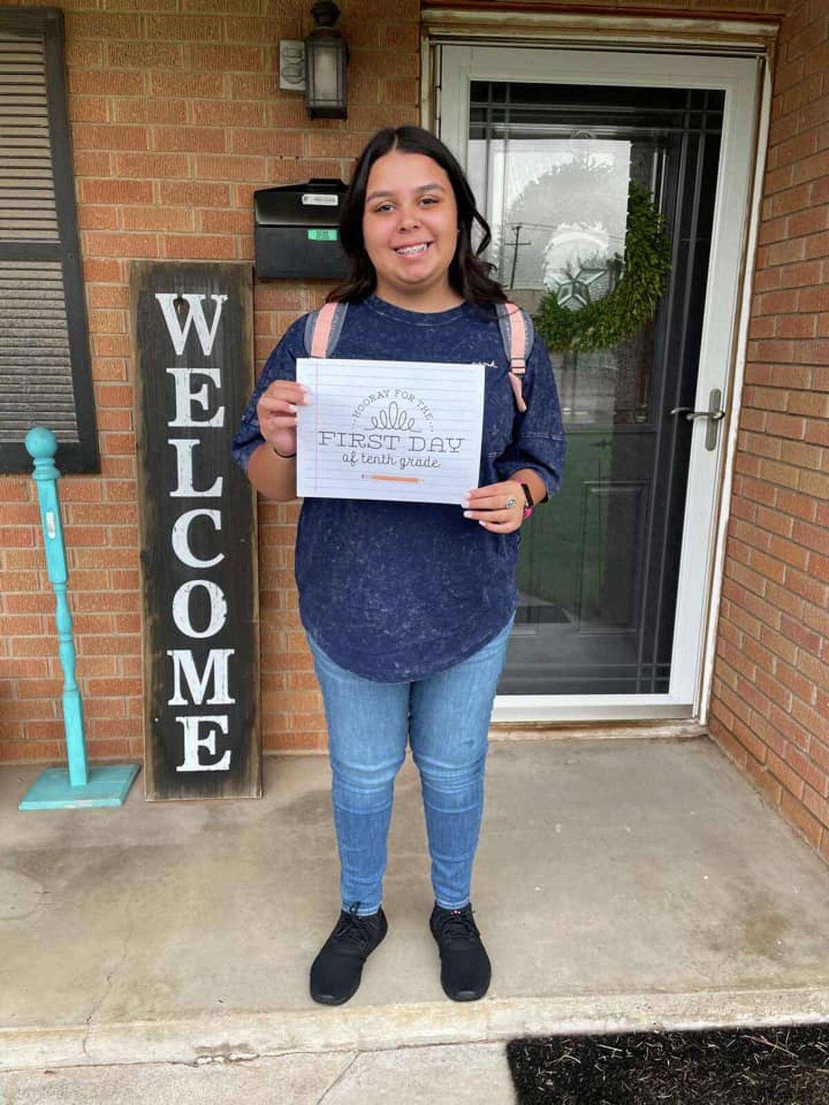First day of school -- Maloree- Sophomore at Legacy High School