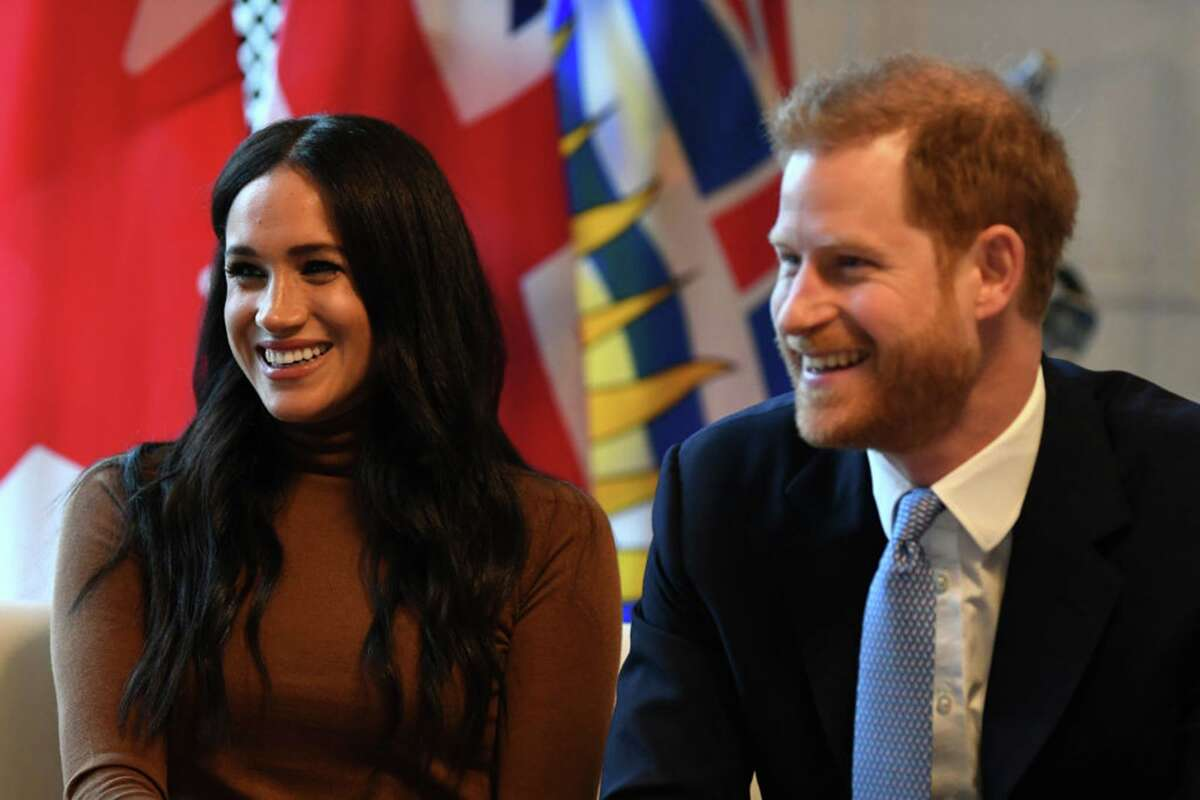 Prince Harry and his wife, Meghan Markle on Jan. 7, 2020 in London, England.