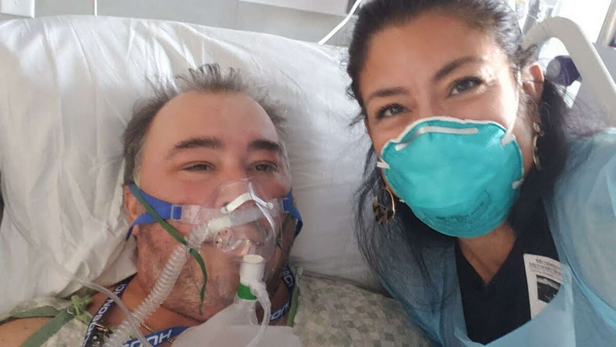 Cleto Rodriguez's wife, Lynette Rodriguez, was able to finally visit her husband in the hospital last week after he was hospitalized with COVID-19 conditions.