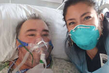 Cleto Rodriguez's wife, Lynette, was able to finally visit him in the hospital on July 30.