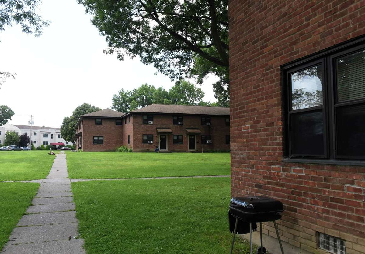 Griswold Heights Apartment complex, Troy Housing Authority?•s largest family development, on Monday, Aug. 2, 2021, in Troy N.Y. Public housing could be one of the possible benefactors of the $45 million in federal recovery funds that Troy is trying to figure out how to spend.