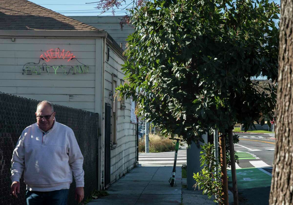 The historic San Jose bar Patty's Inn, seen here in the background, has closed after a nearly 90-year run.