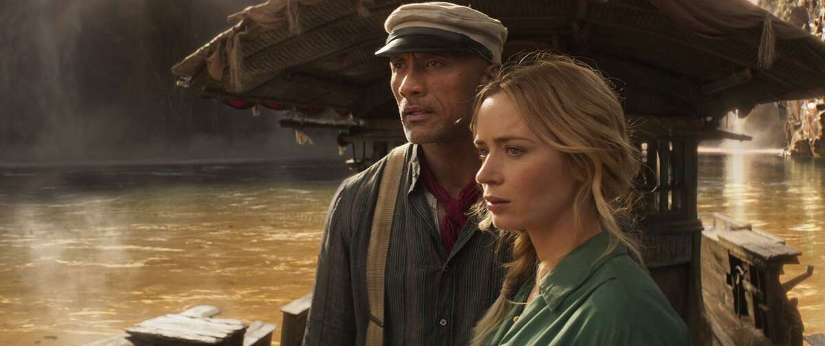 """Dwayne Johnson and Emily Blunt in """"Jungle Cruise."""" (Disney+/TNS)"""
