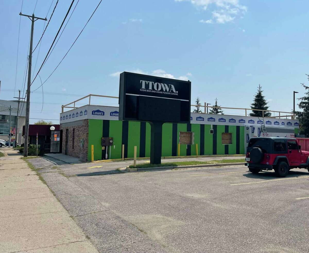 Construction has begun on a new dispensary. Timber Cannabis Co. is building its new shop at the former TTOWA Sushi restaurant on 105 Perry Ave, Big Rapids. (Pioneer photo/Gena Harris)